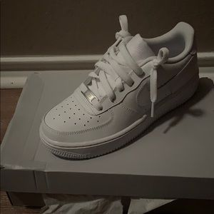 Size 4.5Y all white Air Force ones
